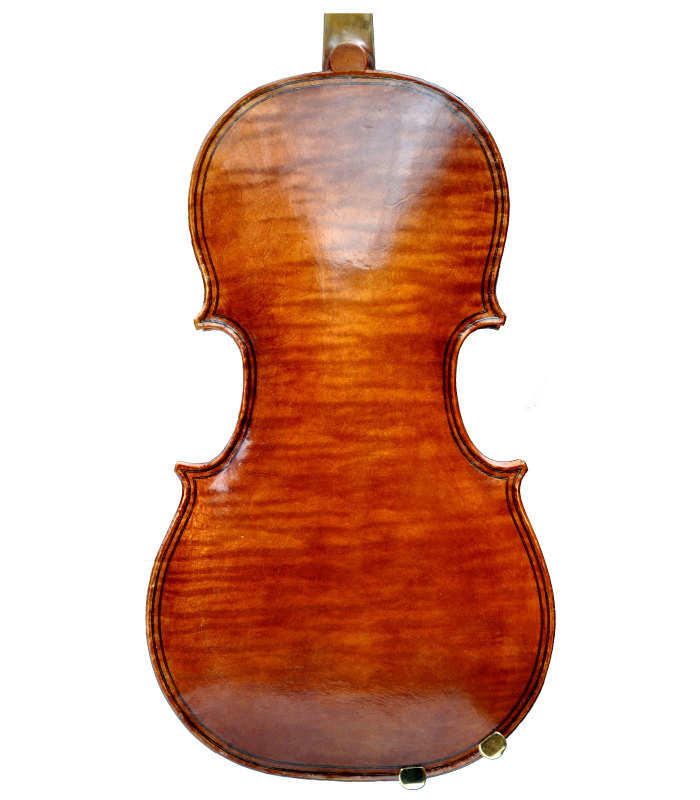 Back view of viola made by Jedidjah de Vries - 2019