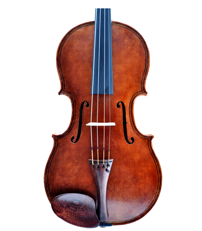 Front view of viola made by Jedidjah de Vries - 2019