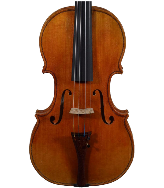 Front view of violin made by Jedidjah de Vries - 2020