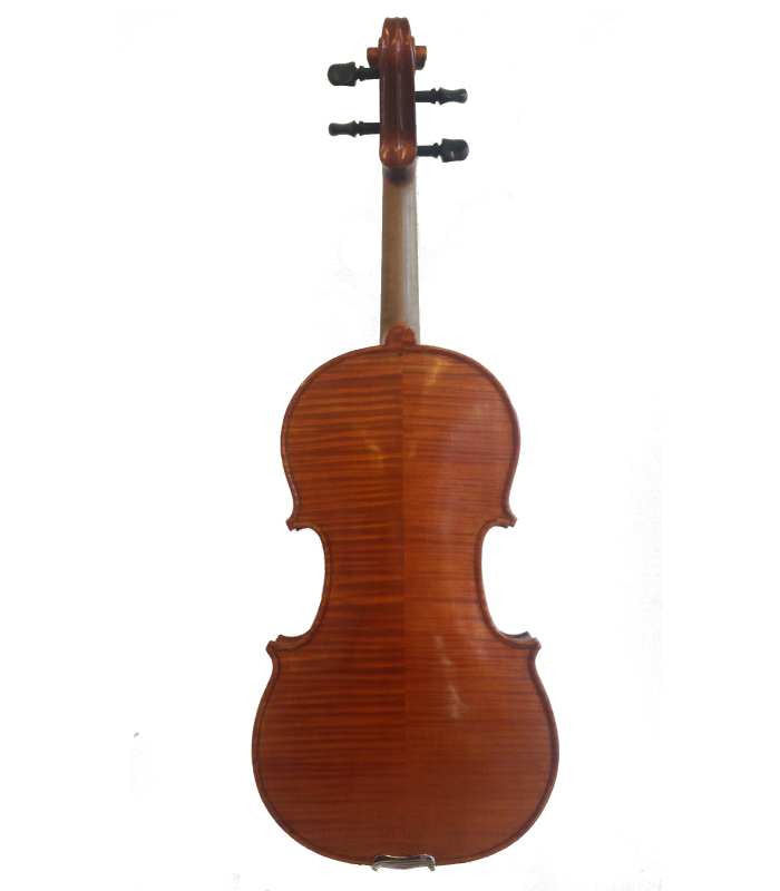 Back view of violin made by Jedidjah - 2014