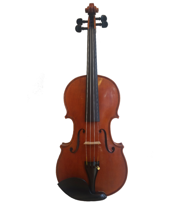 Front view of violin made by Jedidjah - 2014